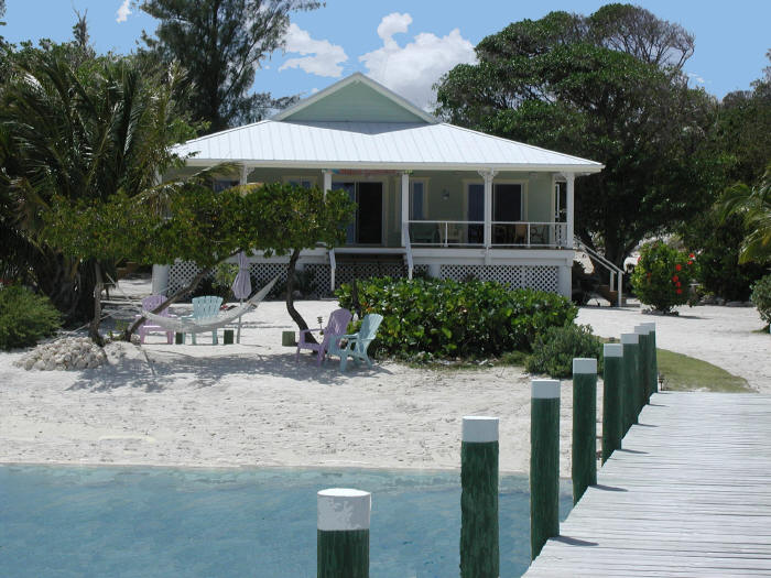 Bahamas rental house beach lubbers provides you with luxury and fun in the steamy bahamas sun - House on beach pix ...